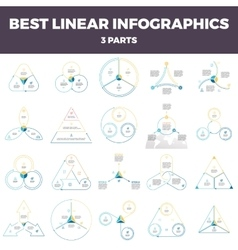 Business infographics Linear infographic elements vector image vector image