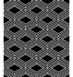 continuous monochrome pattern decorative abstract vector image vector image