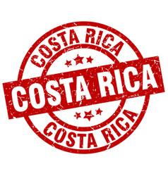 Costa rica red round grunge stamp vector