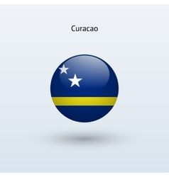 Curacao round flag vector image vector image