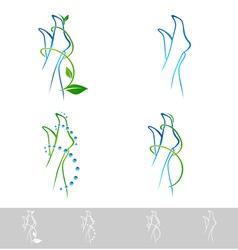 Foot spa design collection vector