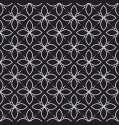 geometry flower dark seamless pattern vector image vector image