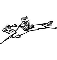 Girl Riding Horse vector image vector image