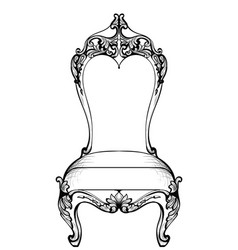 Imperial baroque chair in luxurious ornaments vector