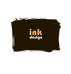 ink grunge square banner vector image