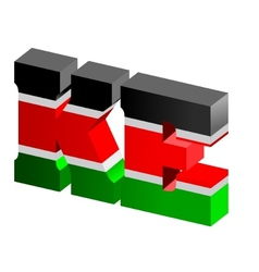 internet top-level domain of kenya vector image