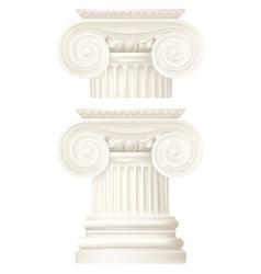 Ionic column drawing vector
