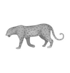 Leopardafrican safari single icon in monochrome vector