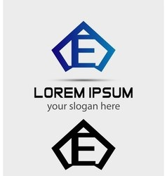 Letter e logo icon design template vector
