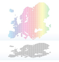 Map of Continent of Europe with Dot Pattern vector image vector image