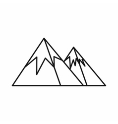 Mountains with snow icon outline style vector image vector image