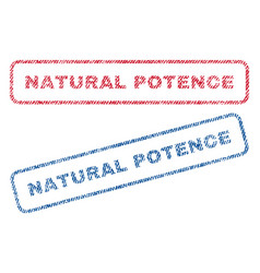 Natural potence textile stamps vector