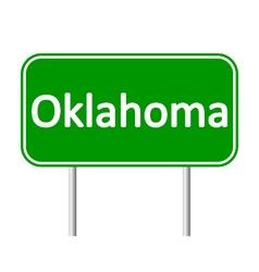 Oklahoma green road sign vector