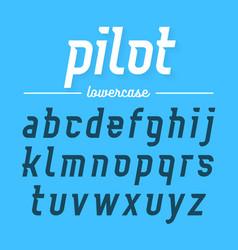 pilot modern aviator font lowercase letters vector image vector image