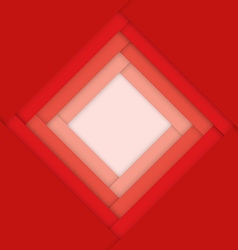 Red abstract material design background vector image vector image