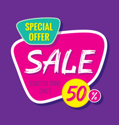 Sale banner template special offer vector