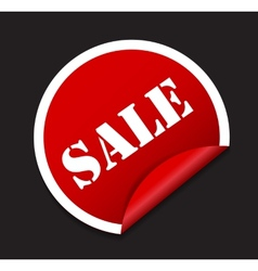 Sale Sticker Banner Template vector image vector image