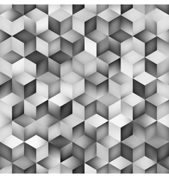 Seamless greyscale gradient cube shape vector