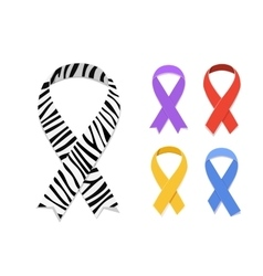 Set of awareness ribbon symbol vector