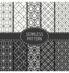 Set of geometric abstract seamless cube pattern vector image vector image