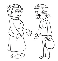 simple black and white mother and grandmother vector image vector image