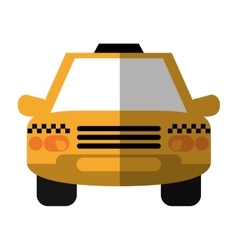 Taxi cab car public transport shadow vector