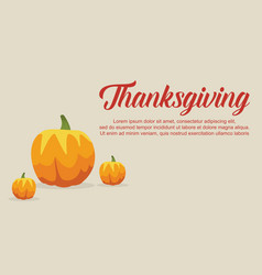 Thanksgiving card collection style vector