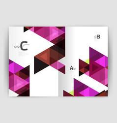modern business brochure or leaflet a4 cover vector image