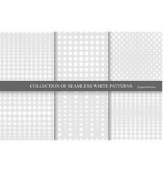 collection of halftone seamless geometric patterns vector image