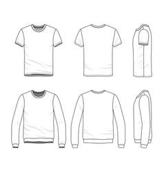 Clothing set of male shirt and sweatshirt vector