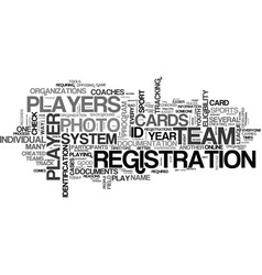 Why have id cards in youth sports text word cloud vector