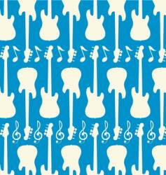 Guitar seamless pattern vector