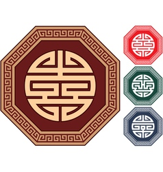 oriental design elements vector image