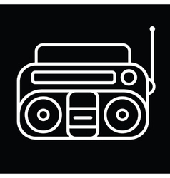 Cassette player icon vector