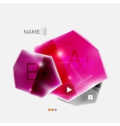 Shiny colorful geometric business abstract vector