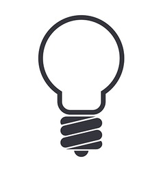 Light bulb icon isolated on white background vector