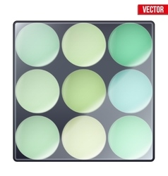 Colourful of make up palette vector