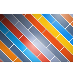 Abstract retro colorful brick background vector