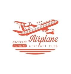 Airplane aircraft club emblem design vector