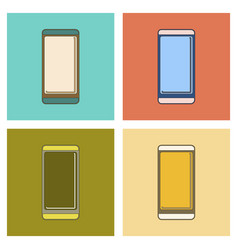 Assembly flat icon mobile phone vector