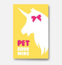 business card template of grooming service pet vector image