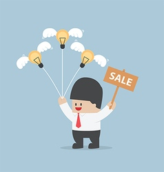 Businessman sale light bulb idea vector image vector image