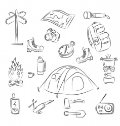 camping vector image vector image