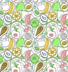Cartoon colorful fruit seamless pattern vector