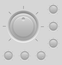Control panel with switches for design vector