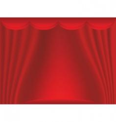 curtain backdrop vector image vector image