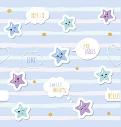 cute seamless pattern background with cartoon vector image vector image