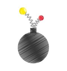 Drawing bomb april fools day vector