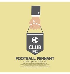 Football or soccer pennant banner vector