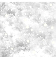 Fresh snow texture with star background vector